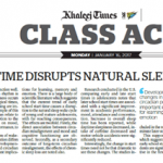 Early School Time Disrupts Natural Sleep Wake Cycle